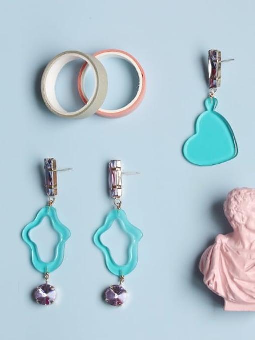 Five Color Alloy Acrylic Cloud Cute Drop Earring 0