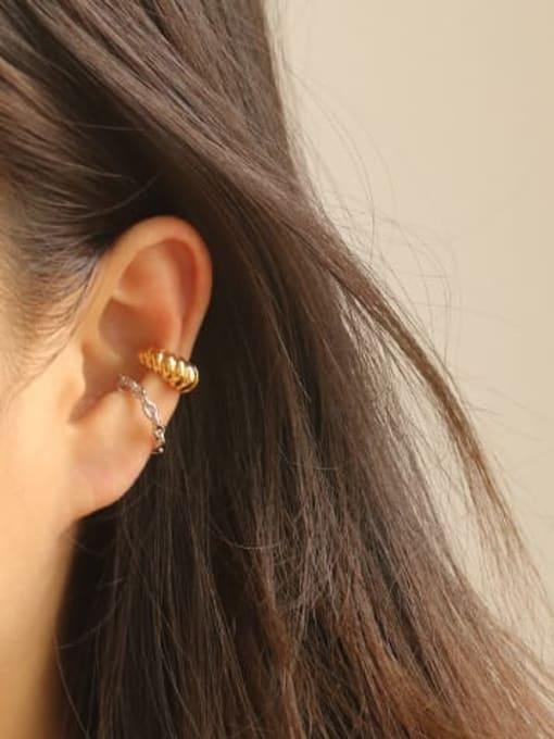 ACCA Brass Hollow Geometric Vintage Hoop Earring 1