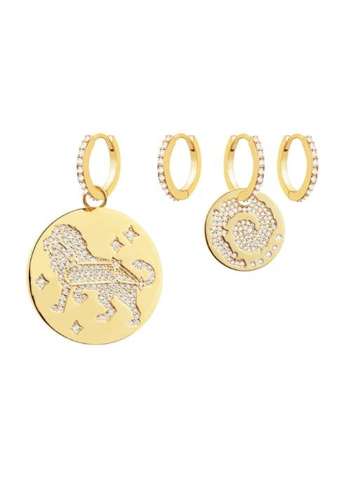OUOU Brass Cubic Zirconia Geometric Minimalist Huggie Earring 0