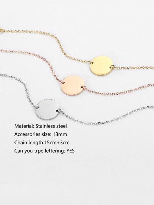 Desoto Titanium Steel Round Minimalist  trpe lettering Bracelet 1