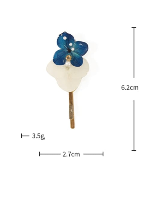 Blue hairpin Alloy Enamel Cute Flower  Hair Pin