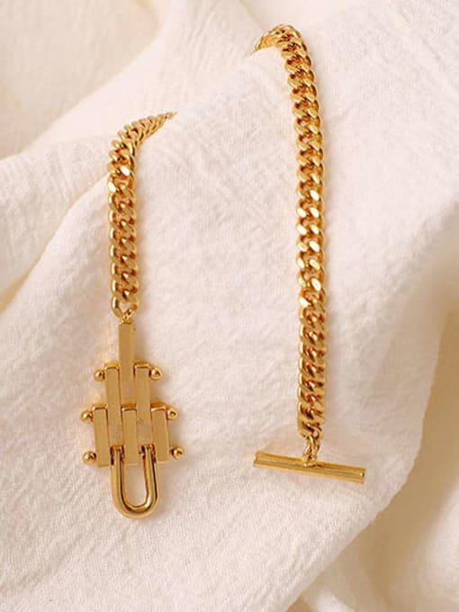 ACCA Brass Geometric Hip Hop Link Bracelet 2