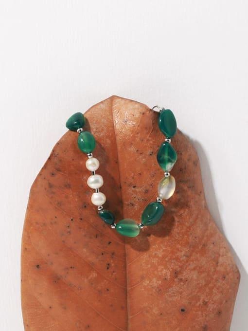 TINGS Brass Freshwater Pearl Irregular Vintage Beaded Bracelet 2
