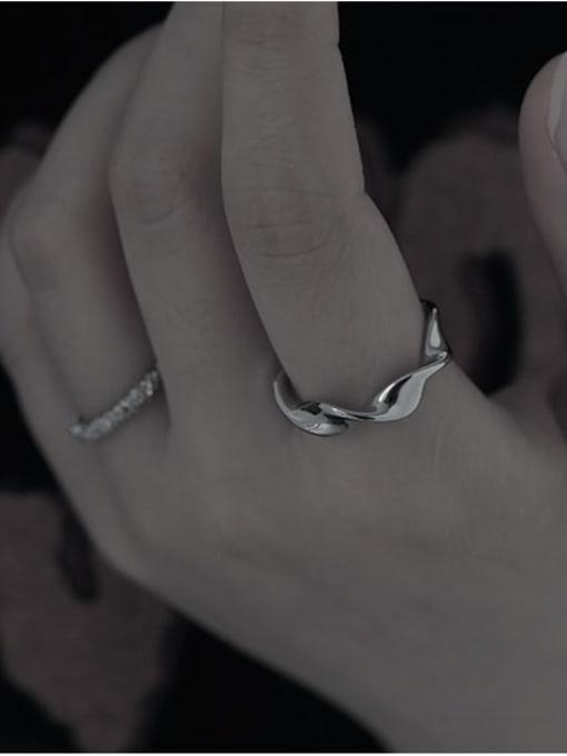 TINGS Brass Smooth Irregular Minimalist Band Ring 1