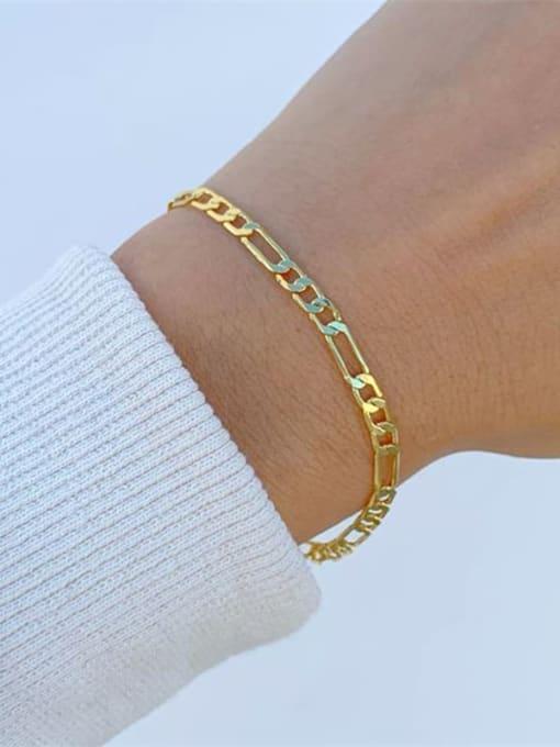 Desoto Stainless steel Geometric Minimalist Link Bracelet 1