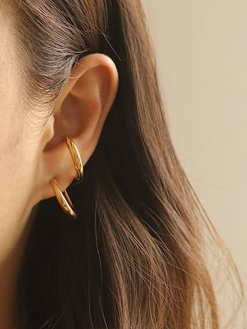 ACCA Brass Smooth Irregular Vintage Stud Earring 0