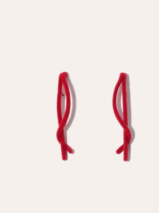 Five Color Alloy Irregular Minimalist Threader Earring 1