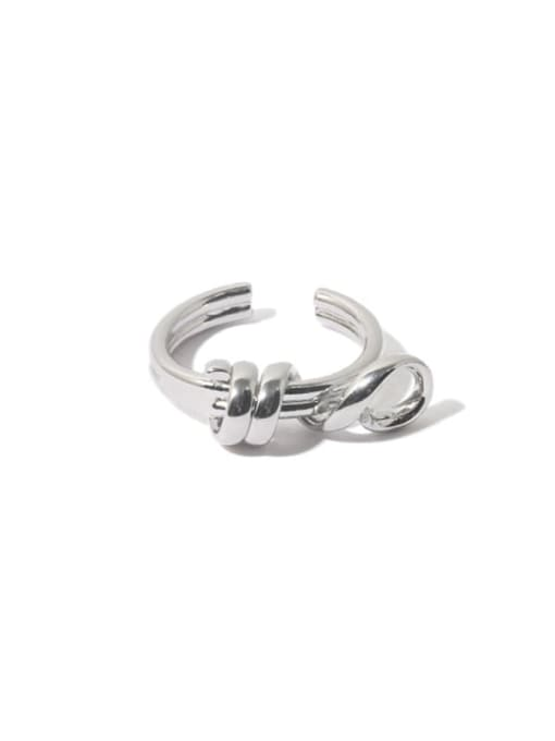Twisted line ring Brass Line Wrapping  Hip Hop Band Ring