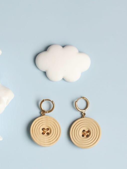Five Color Alloy Enamel Geometric Cute Huggie Earring 1