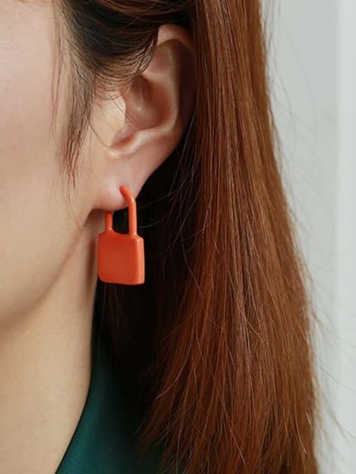 ACCA Zinc Alloy Enamel Locket Minimalist Single Earring 2
