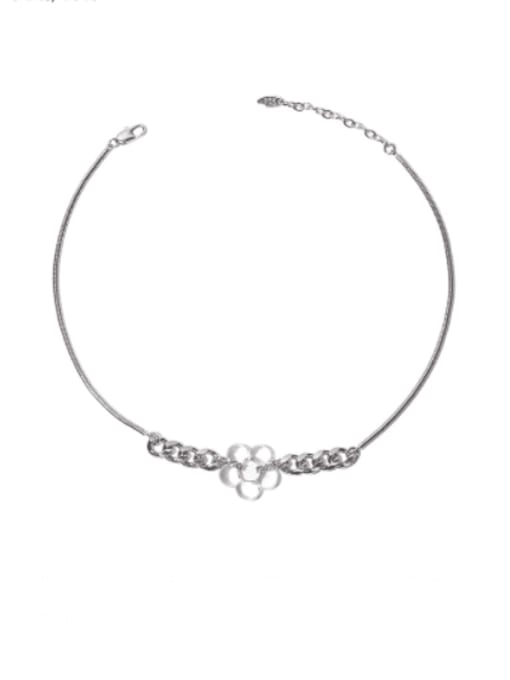 TINGS Brass Hollow Flower Minimalist Necklace 0