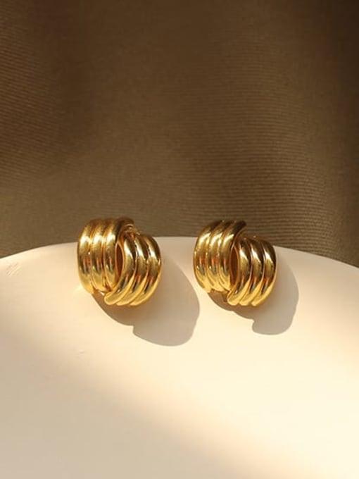 ACCA Brass Irregular Minimalist Stud Earring 2