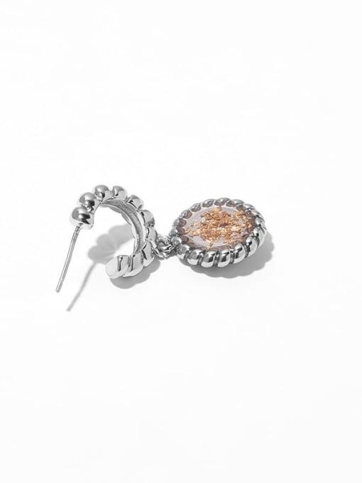 TINGS Brass Geometric Vintage Drop Earring 3