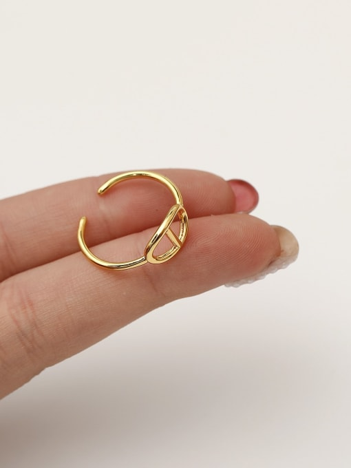 HYACINTH Brass Geometric Minimalist Band Ring 2