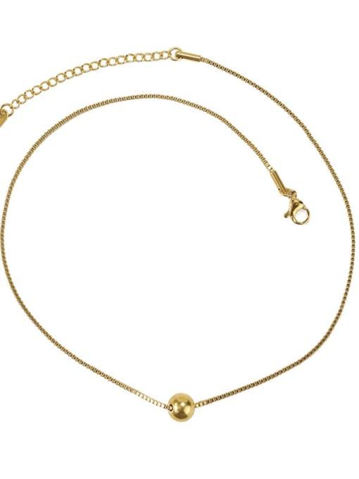 ACCA Brass Bead Round Minimalist Necklace 0