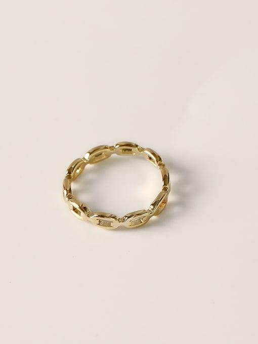 HYACINTH Brass Geometric Minimalist Band Ring 2