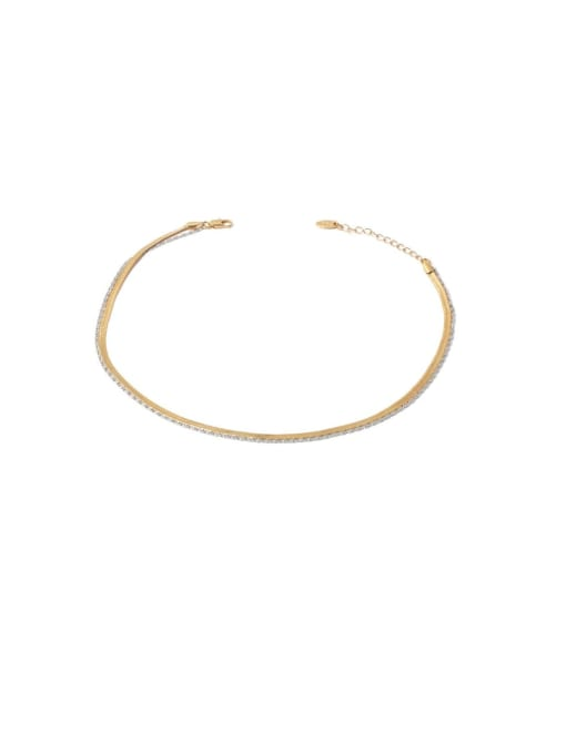 Gold and Silver Necklace Brass Geometric Minimalist Multi Strand Necklace