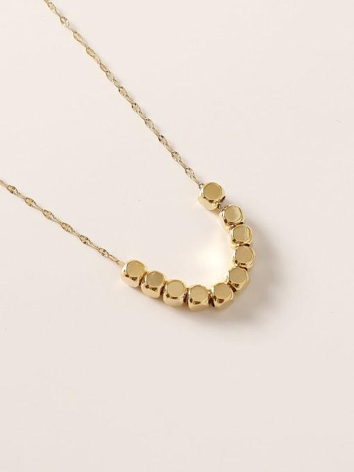 14k Gold Brass  Smooth Locket Minimalist Necklace