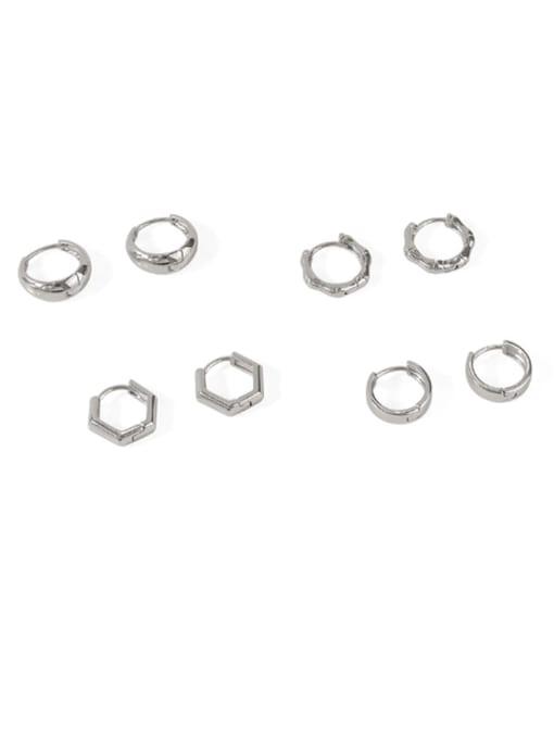 ACCA Brass Smooth Geometric Minimalist Huggie Earring 0