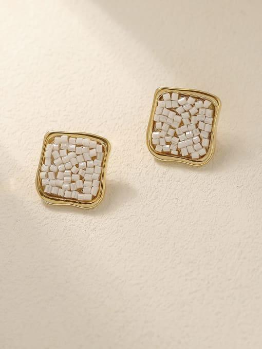 HYACINTH Brass Geometric Minimalist Stud Earring 0