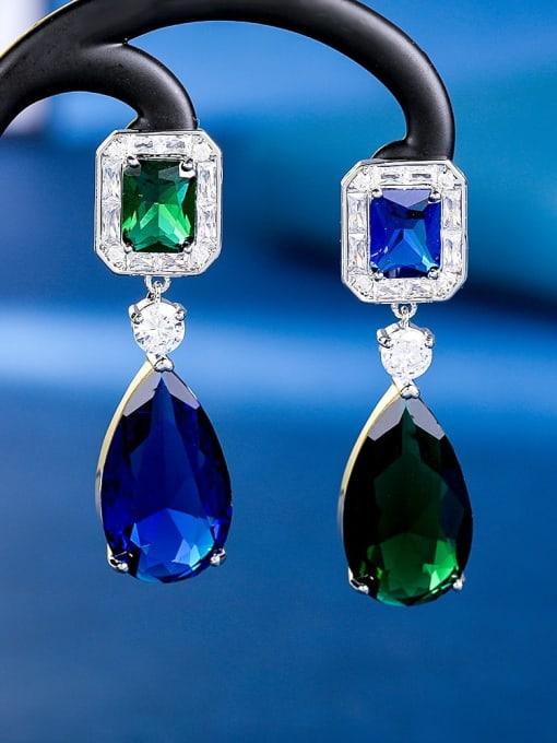 1 Brass Cubic Zirconia Water Drop Luxury Drop Earring
