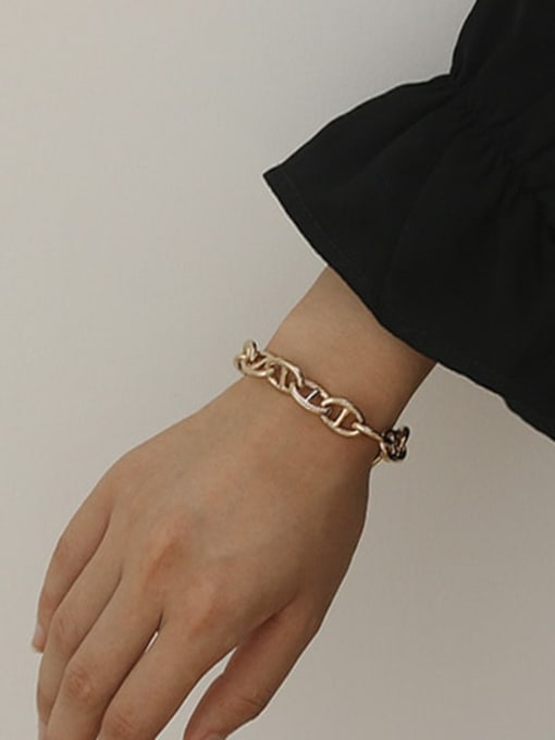 ACCA Brass Geometric Vintage Hollow chain Bracelet 1