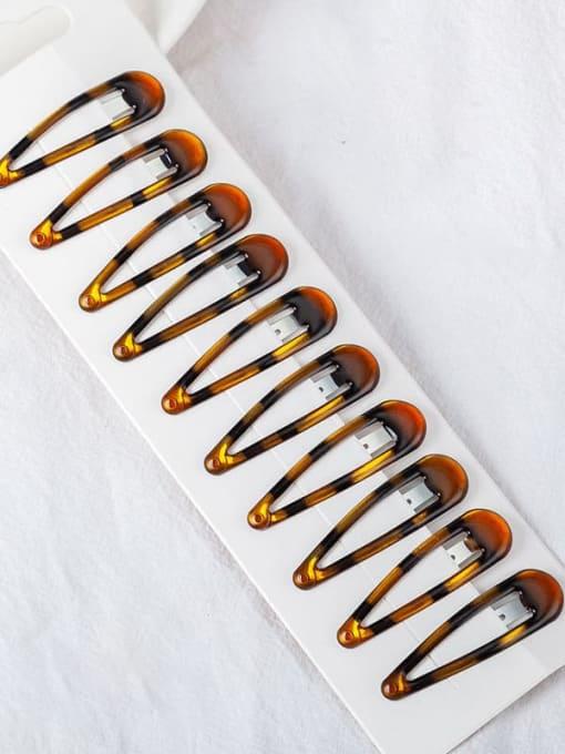 5cm tortoise Alloy Multi Color Enamel Minimalist Water Drop  Hair Barrette