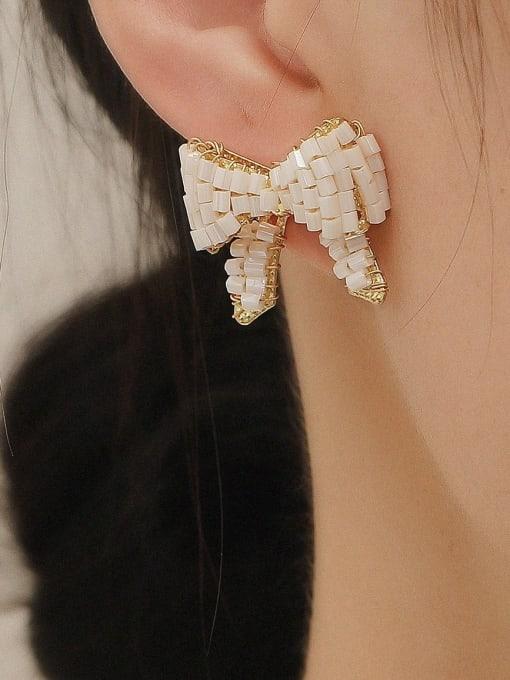 HYACINTH Brass Butterfly Vintage Stud Earring 1
