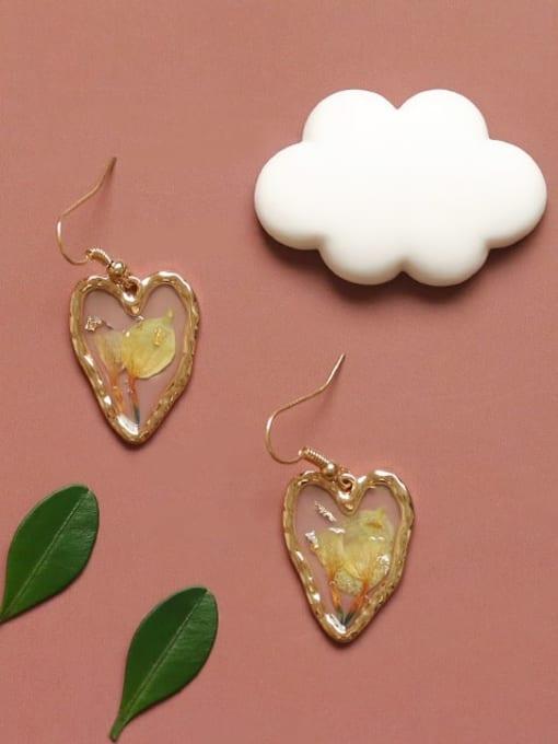 Five Color Alloy Heart Bohemia Hook Earring