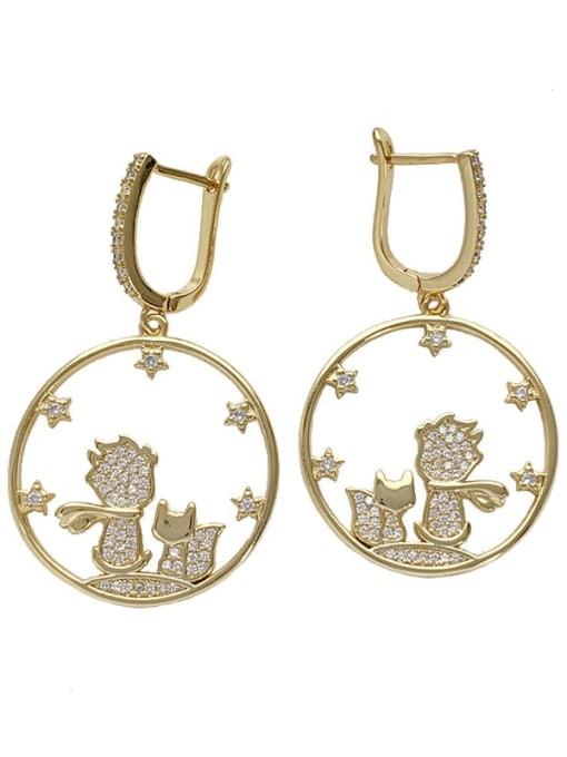 SUUTO Brass Cubic Zirconia Geometric Bohemia Huggie Earring 3