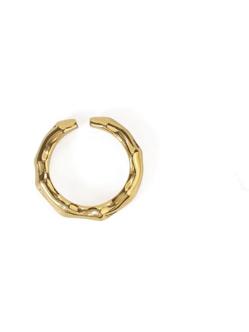 TINGS Brass Geometric Vintage Band Ring 4