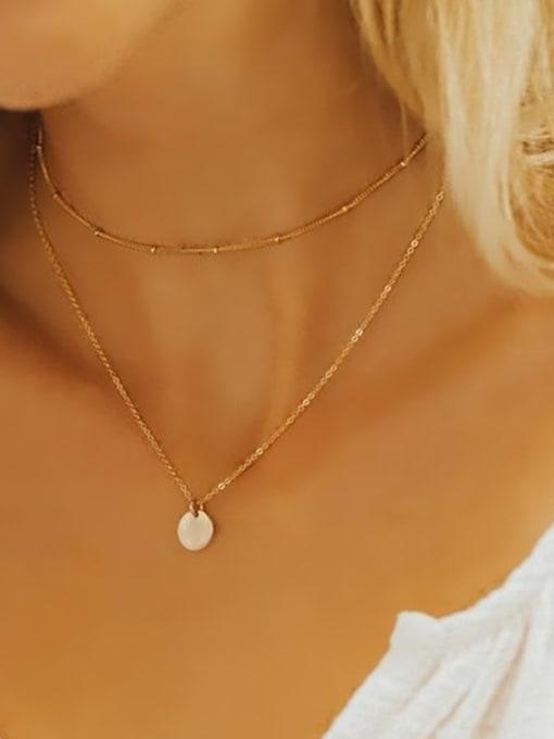 Desoto Stainless steel Locket Minimalist Multi Strand Necklace 2