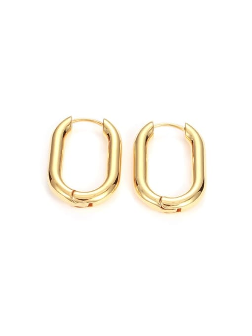 Golden U-shape (Single) Brass Geometric Minimalist Huggie Earring