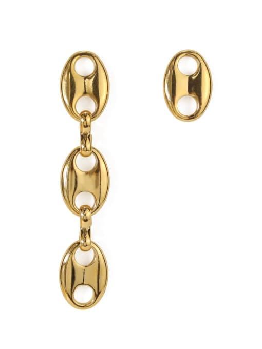 ACCA Brass  Hollow Geometric Minimalist Drop Earring 1