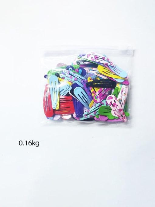 DINGHM Alloy  Printing Children 126PCS Water drop clip BB clip side clip set 3