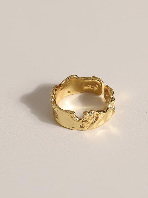 JZ090 Brass Geometric Vintage Band Ring