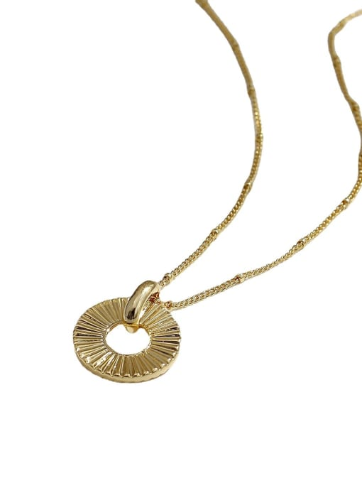 HYACINTH Brass Round Hip Hop Necklace 4