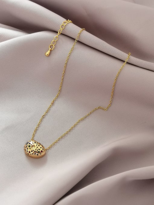 HYACINTH Brass Cubic Zirconia Geometric Vintage Necklace 2