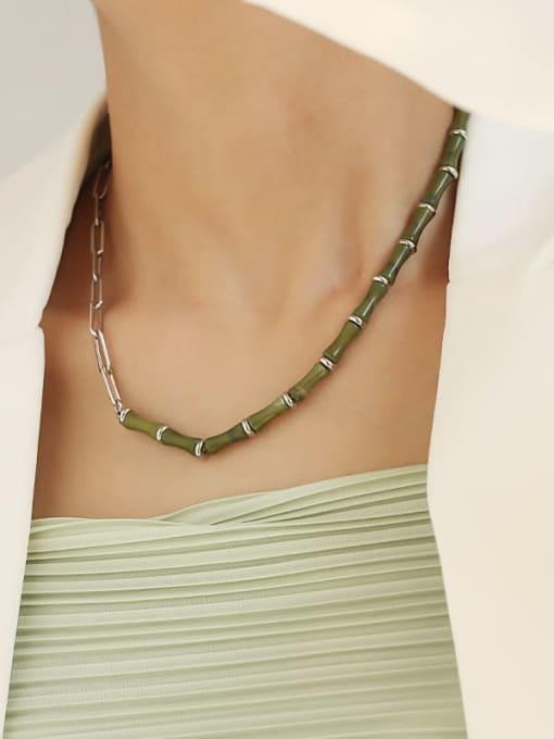 TINGS Brass Enamel Geometric Vintage Necklace 1