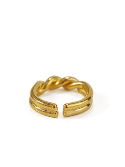ACCA Brass Irregular Vintage Twist Midi Ring 3
