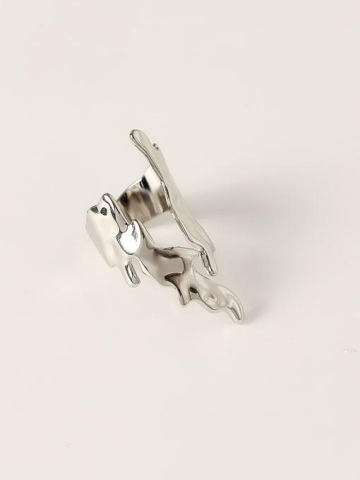 white K Brass Irregular Vintage Band Fashion Ring