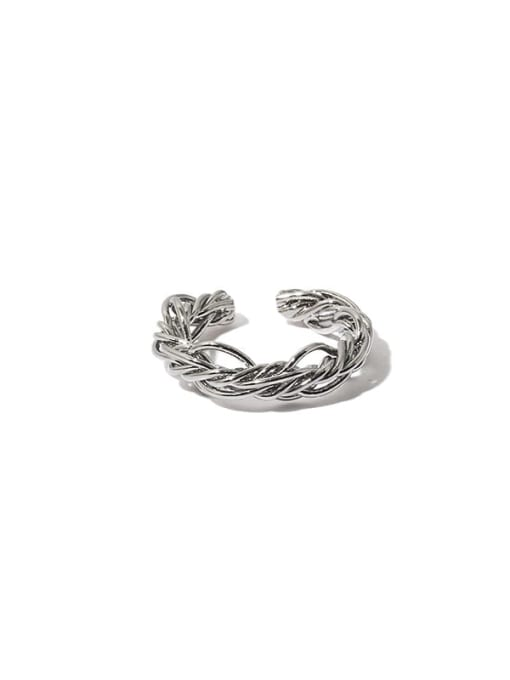 TINGS Brass Line Wrapping Hip Hop Band Ring 3