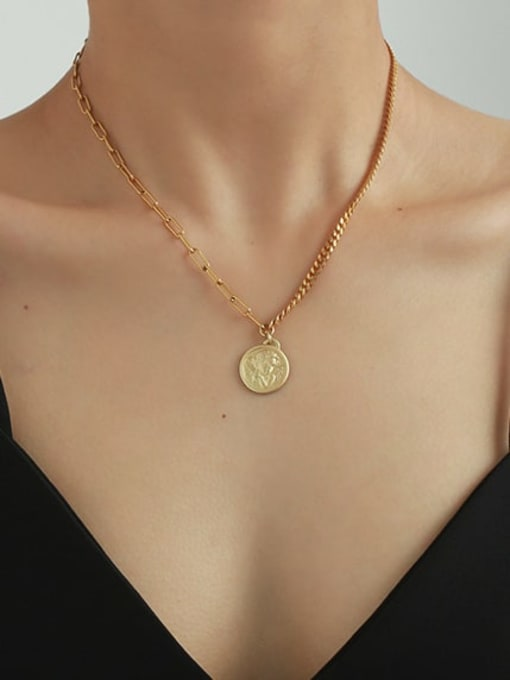 Five Color Brass Angel Vintage Hollow Chain Necklace 2