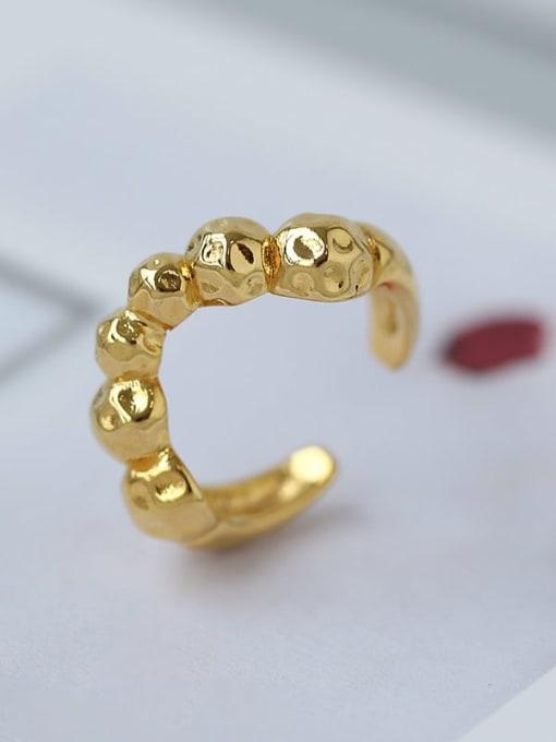 Five Color Brass Smooth Irregular Minimalist Band Ring 2