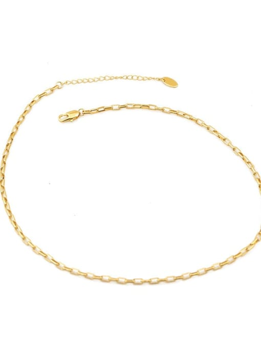 Five Color Brass Geometric Minimalist Choker Necklace 4