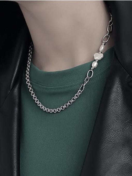 TINGS Brass Asymmetry Irregular Minimalist Necklace 3