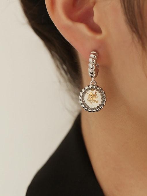 TINGS Brass Geometric Vintage Drop Earring 2