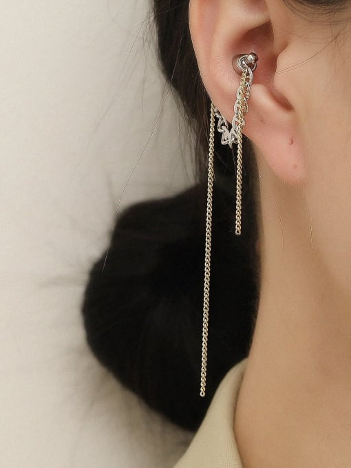 HYACINTH Brass Tassel Vintage Single Earring 1