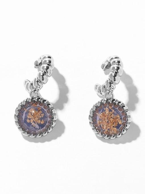 Round Earrings Brass Geometric Vintage Drop Earring