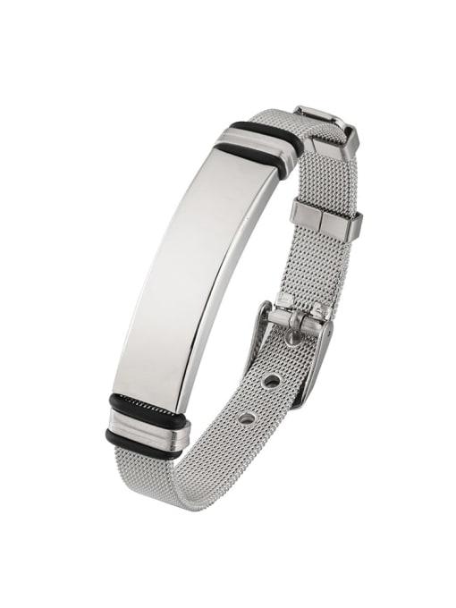 Steel color Titanium Steel Geometric Hip Hop Bracelet